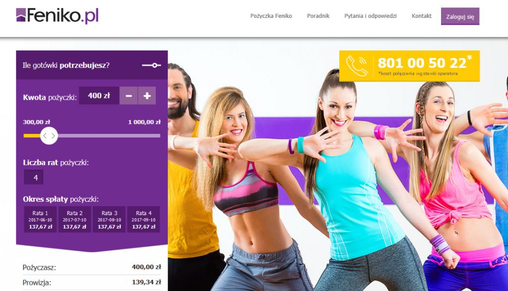 strona internetowa firmy feniko pozyczka online